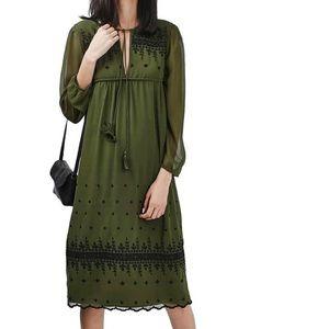 NWT Topshop Embroidered Midi Dress